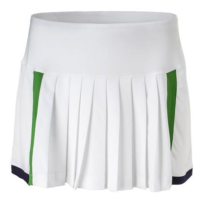 Women`s Heritage Pleated Tennis Skort White and Olive