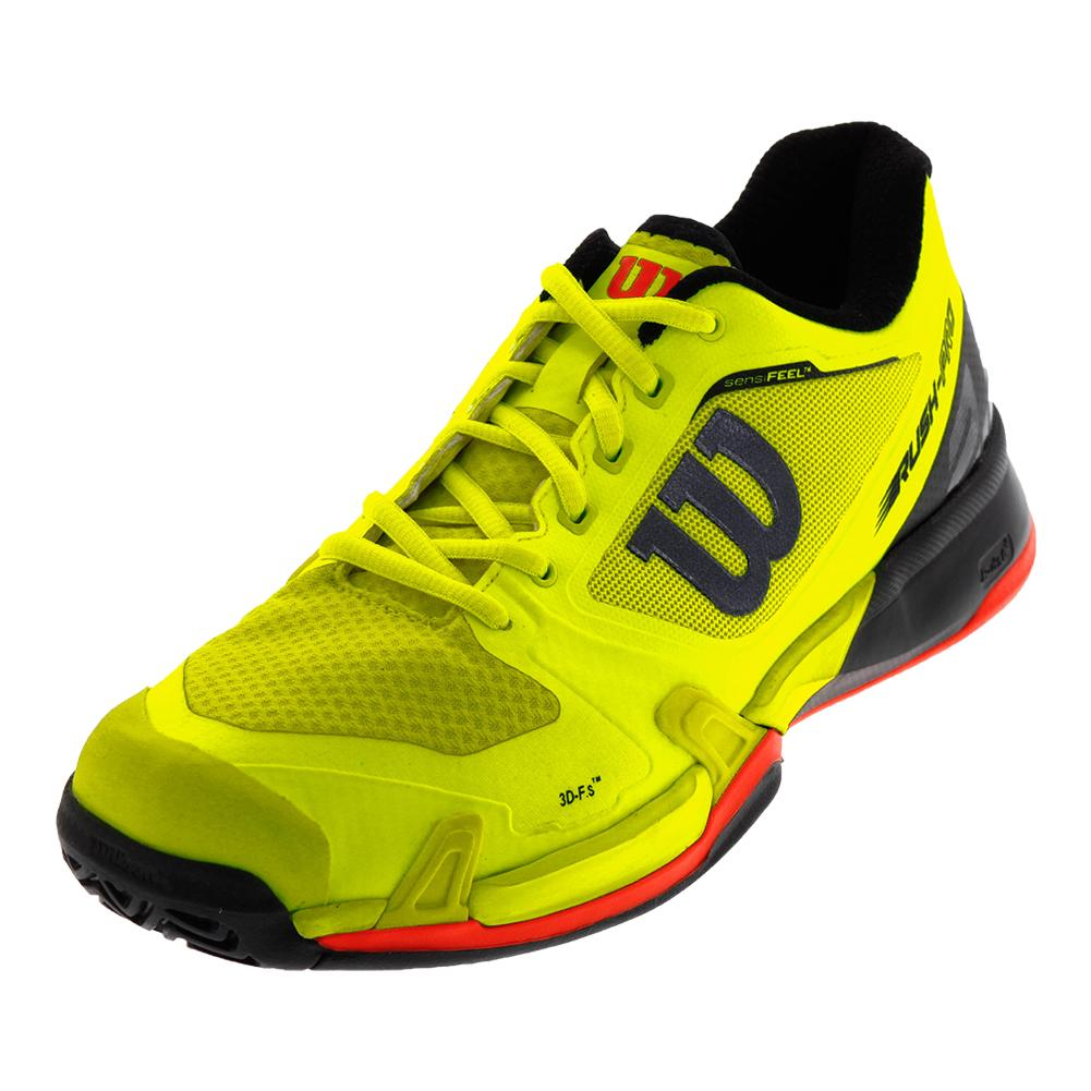 Men's Rush Pro 2.5 All Court Tennis Shoes Safety Yellow And Black