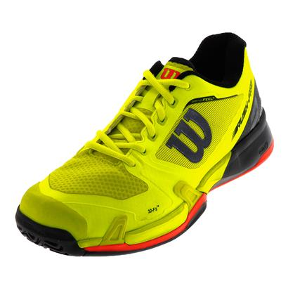 Men`s Rush Pro 2.5 All Court Tennis Shoes Safety Yellow and Black