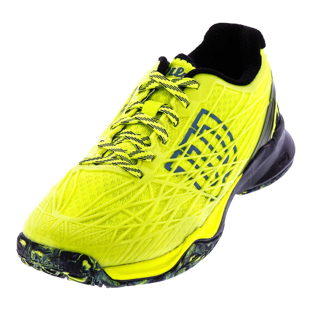 Men's Kaos All Court Tennis Shoes Safety Yellow And Black