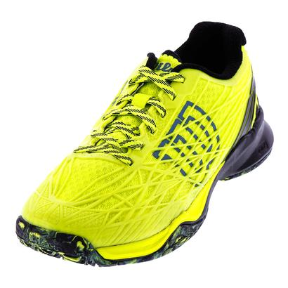 Men`s Kaos All Court Tennis Shoes Safety Yellow and Black