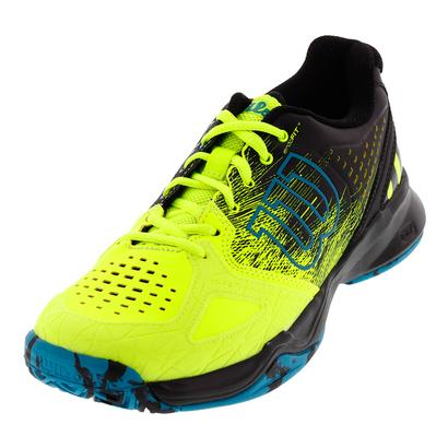 Men`s Kaos Comp Tennis Shoes Safety Yellow and Black