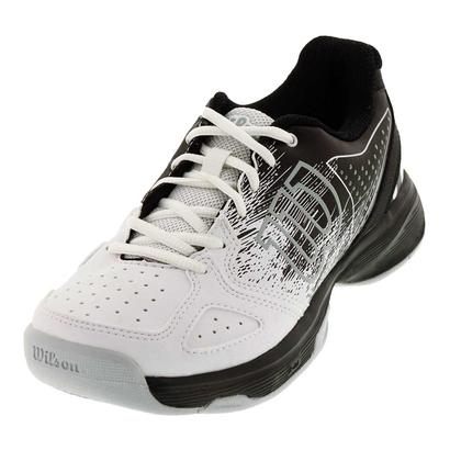 Juniors` Kaos Comp Tennis Shoes Black and White