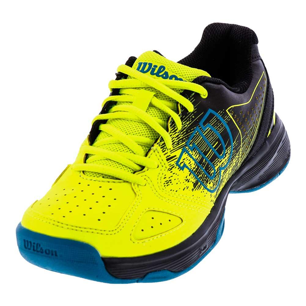Juniors ` Kaos Comp Tennis Shoes Safety Yellow And Black