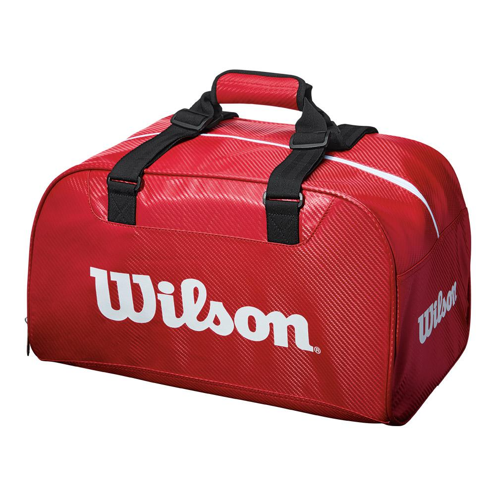 Small Duffel Tennis Bag Red