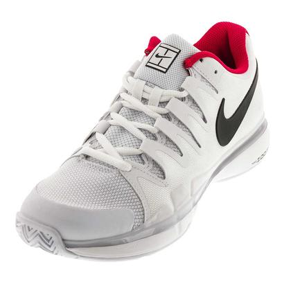 Juniors` Zoom Vapor 9.5 Tour Tennis Shoes White and Dark Gray