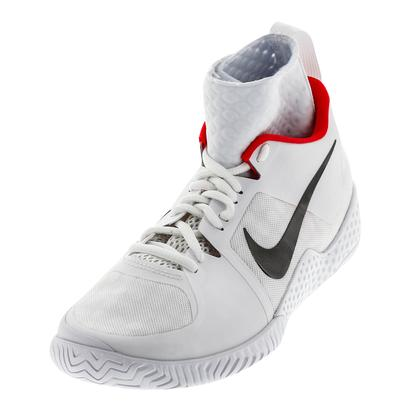 Women`s Flare QS Tennis Shoes White and Dark Gray