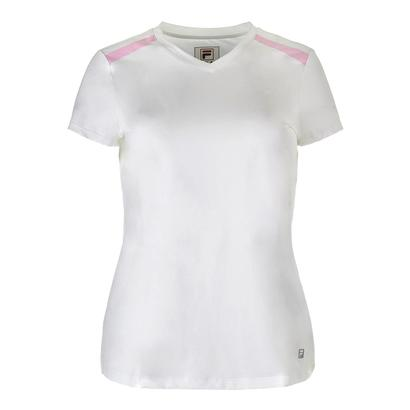 Women`s Simply Smashing Cap Sleeve Tennis Top White