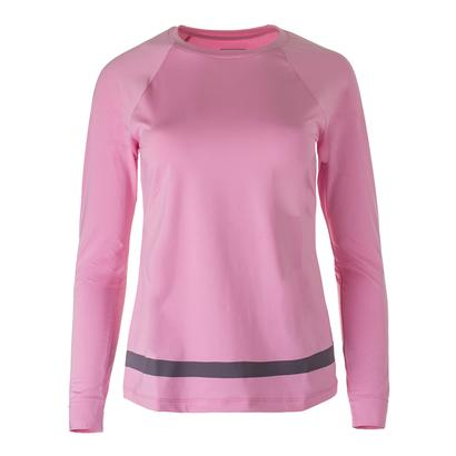 Women`s Simply Smashing Long Sleeve Tennis Top Prism Pink