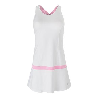 Women`s Simply Smashing Tennis Dress White and Prism Pink