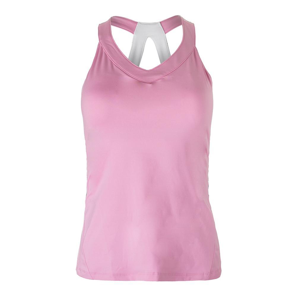 Women's Simply Smashing Tennis Tank Prism Pink And White