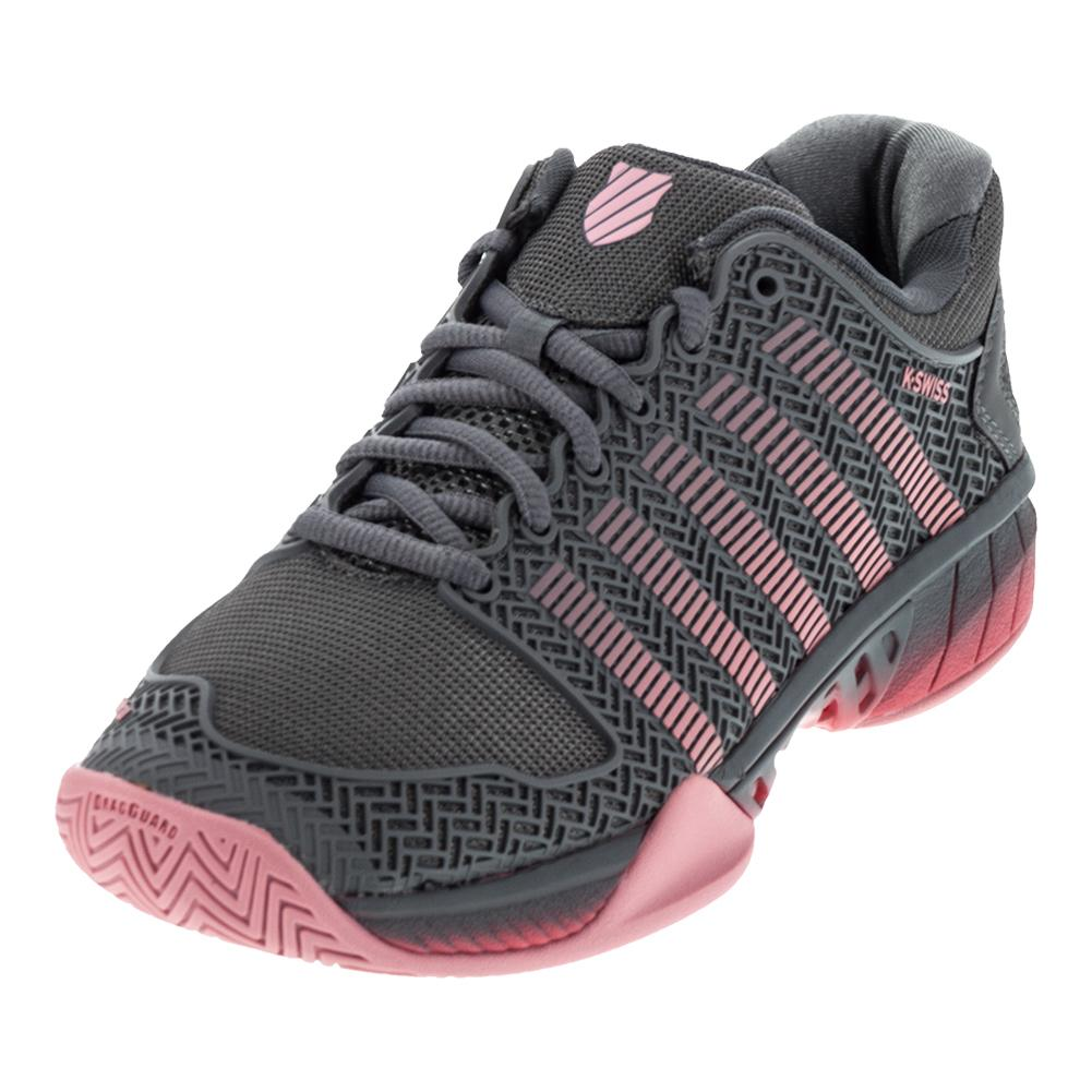 Women's Hypercourt Express Tennis Shoes Steel Gray And Calypso Coral