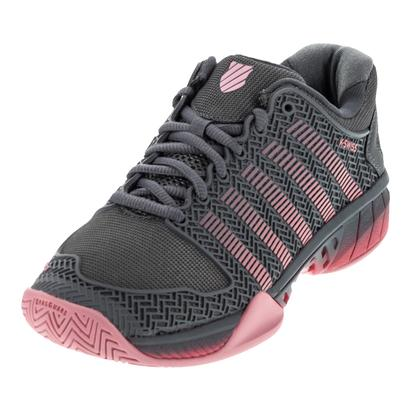 Women`s Hypercourt Express Tennis Shoes Steel Gray and Calypso Coral