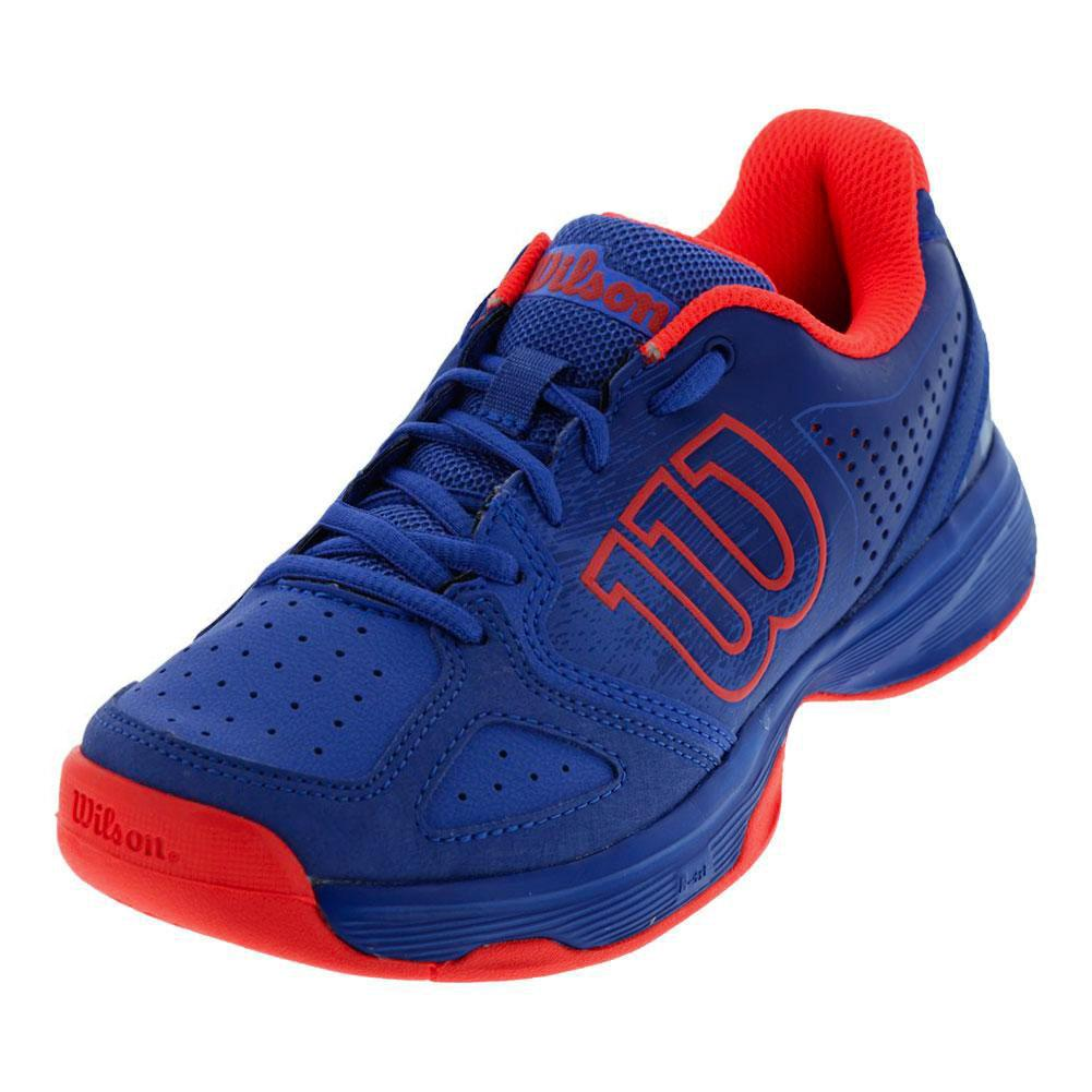 Juniors ` Kaos Comp Tennis Shoes Amparo Blue And Surf The Web