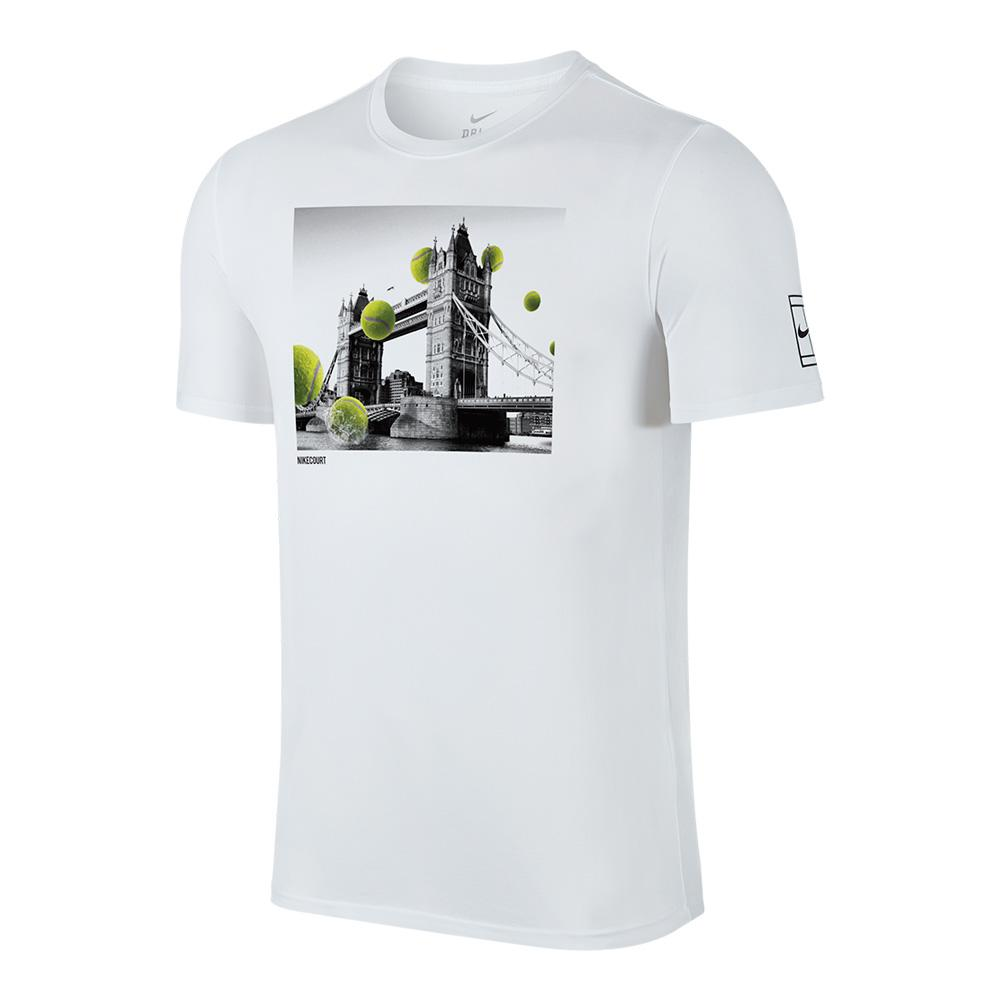Men's Court Wimbledon Tennis Tee White