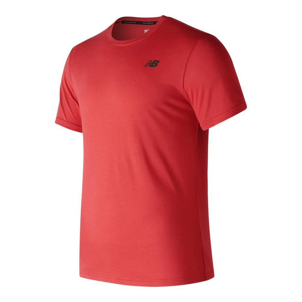 Men's Heather Tech Short Sleeve Tennis Tee