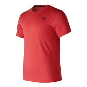Men`s Heather Tech Short Sleeve Tennis Tee