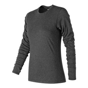 Women`s Heather Tech Long Sleeve Tennis Top