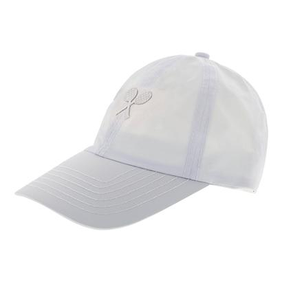Girls` Tennis Cap White with White Racquets