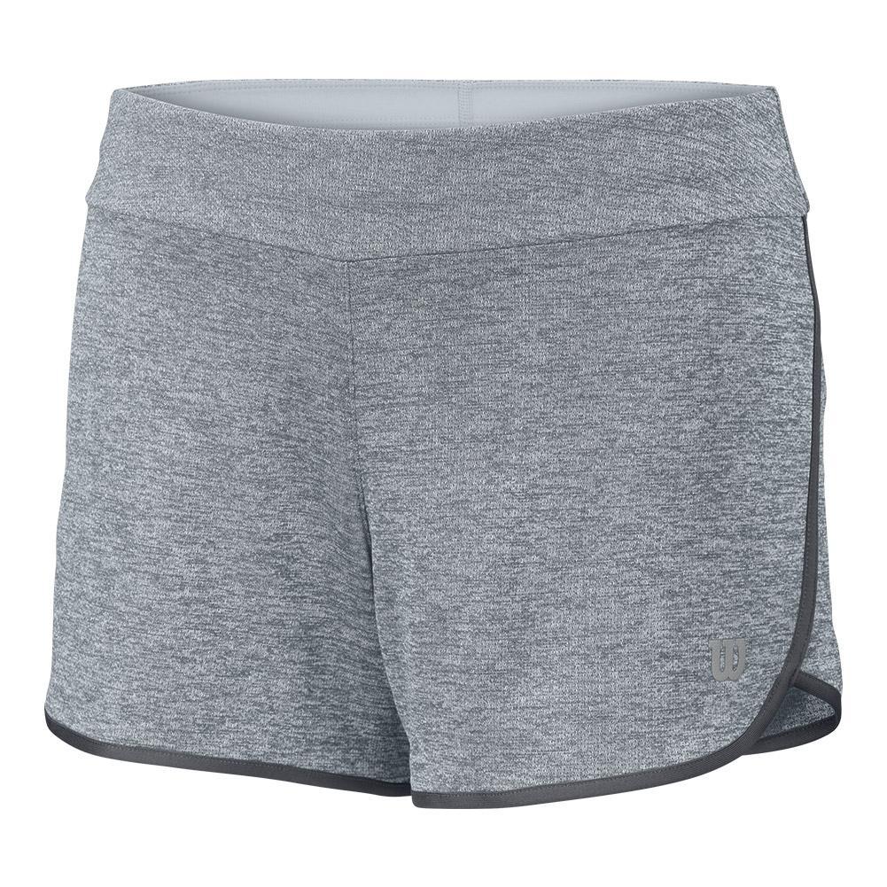 Girls ` Core 3.5 Inch Tennis Short Pearl Gray And Turbulence