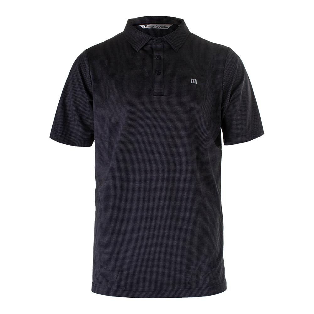 Men's Acey Deucey Tennis Polo Blue Nights And Gray Pinstripe
