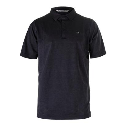 Men`s Acey Deucey Tennis Polo Blue Nights and Gray Pinstripe