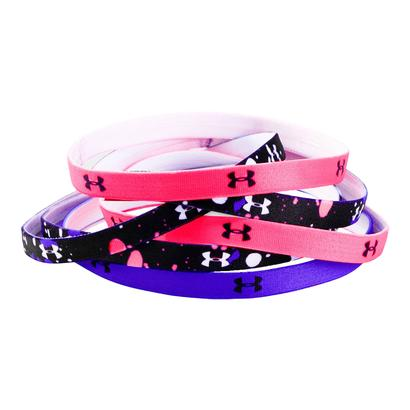 Girls` Graphic Headband 6 Pack Black and Penta Pink
