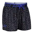 Girls` Play Up Printed Short 002_BLACK/PURPLE