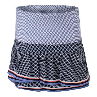 Women`s Long Courtship Pleat Tier Tennis Skort Midnight Navy