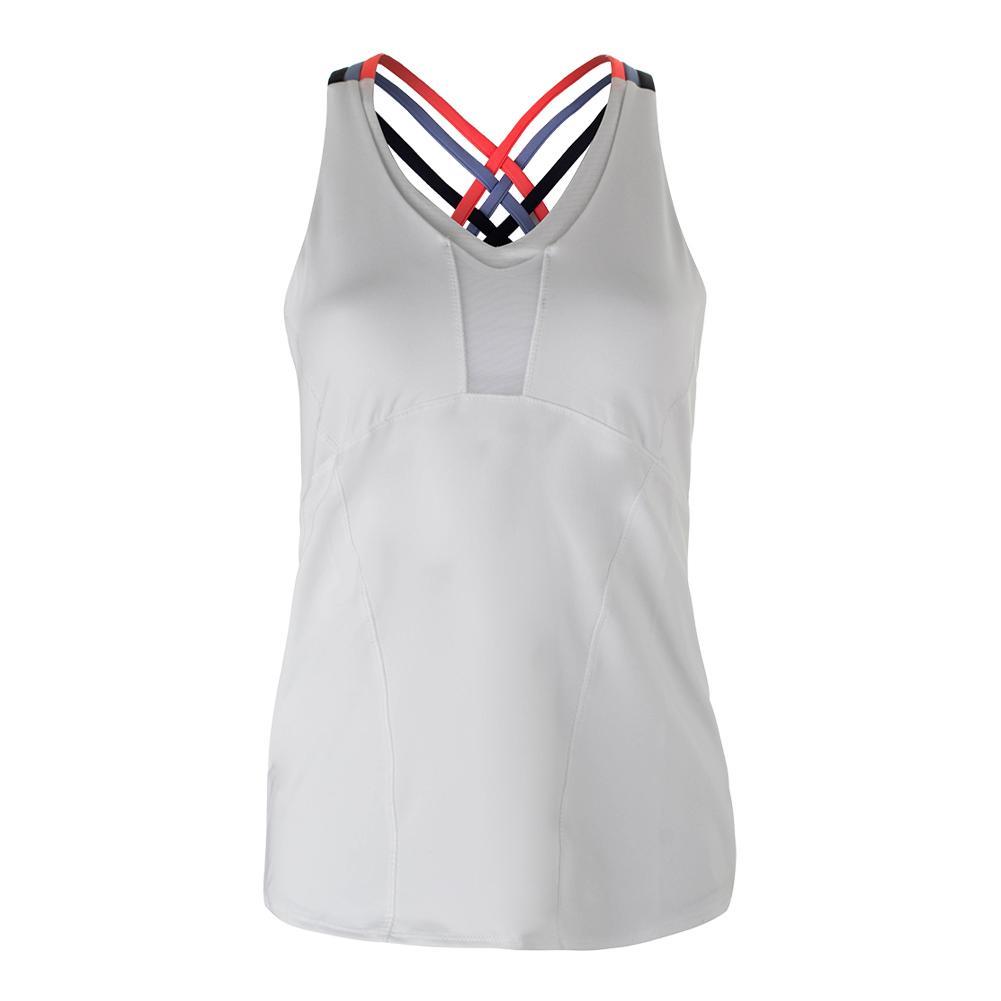 Women's Double Cross Tennis Cami White