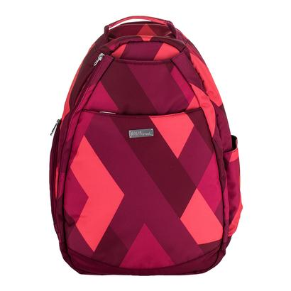 Women`s Tennis Backpack Red Print