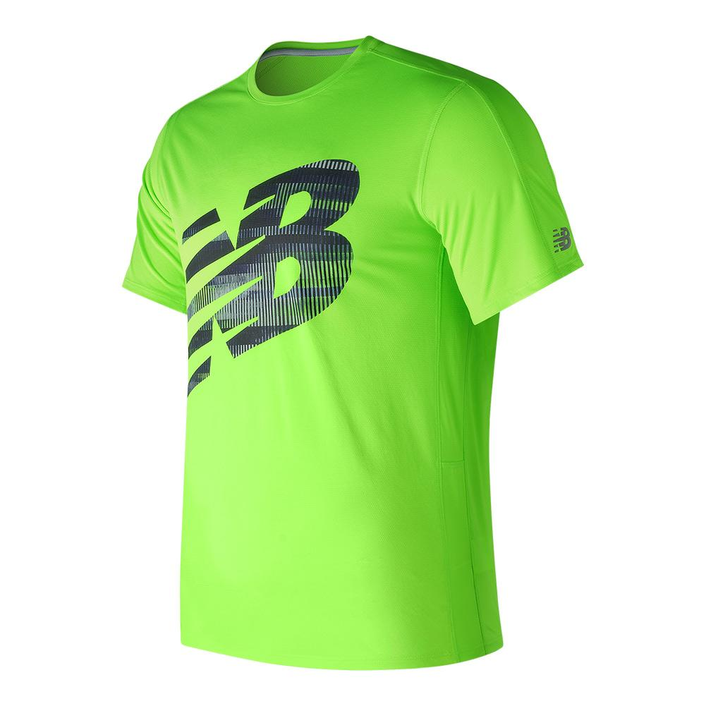 Men's Accelerate Tennis Graphic Top Lime Green