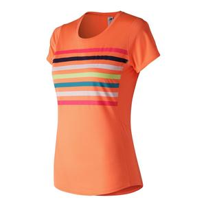 Women`s Accelerate Short Sleeve Print Tennis Top