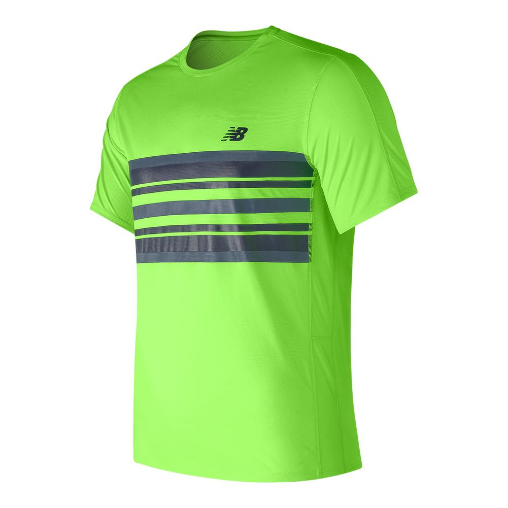 Men's Accelerate Tennis Graphic Top Energy Lime