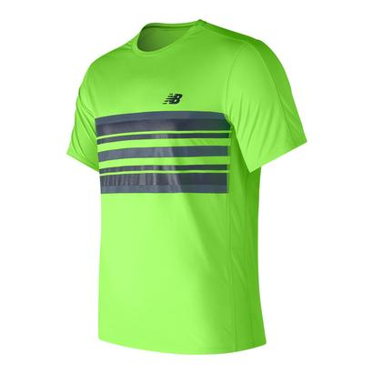 Men`s Accelerate Tennis Graphic Top Energy Lime