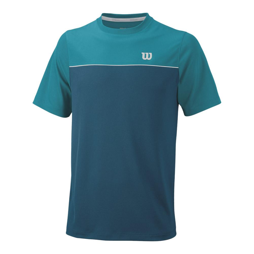 Men's Star Bonded Tennis Crew Moroccan Blue And Enamel Blue