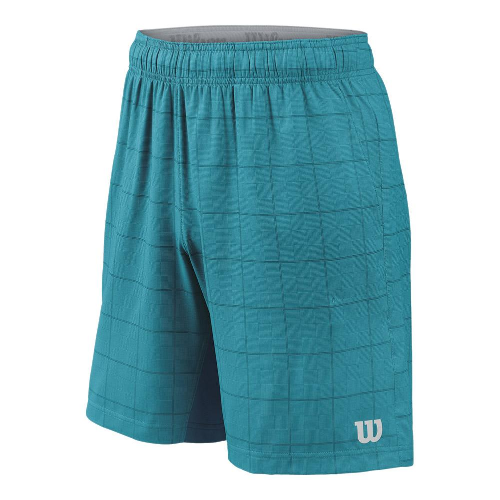 Men's Star Plaid 9 Inch Tennis Short Enamel Blue And Moroccan Blue