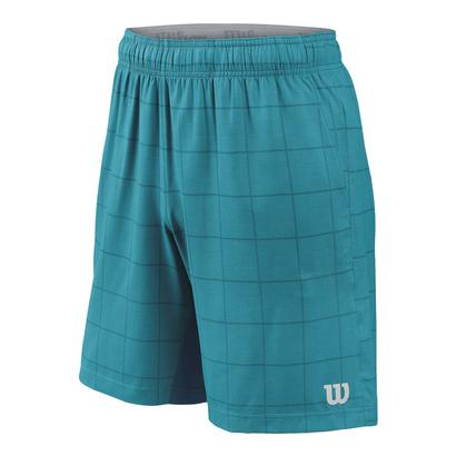 Men`s Star Plaid 9 Inch Tennis Short Enamel Blue and Moroccan Blue
