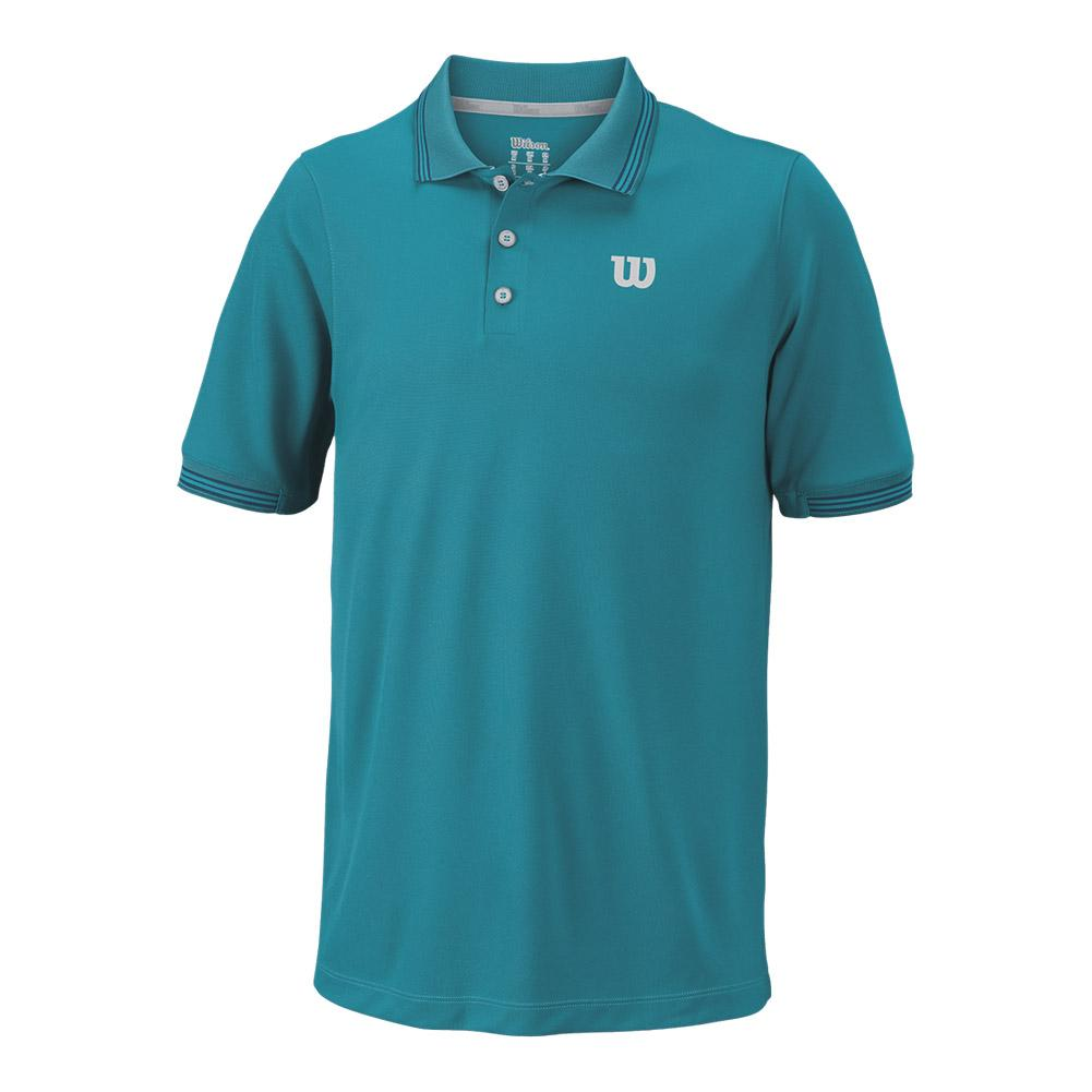 Men's Star Tipped Tennis Polo Enamel Blue