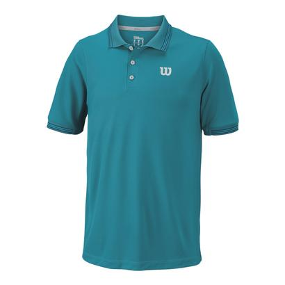 Men`s Star Tipped Tennis Polo Enamel Blue