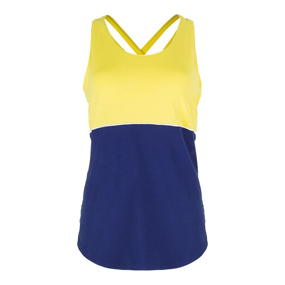 Women's Loop Back Tennis Tank Vibrant Yellow