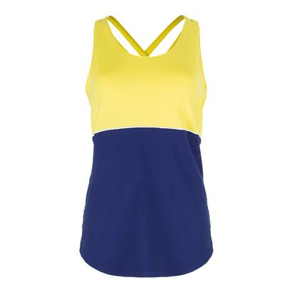 Women`s Loop Back Tennis Tank Vibrant Yellow