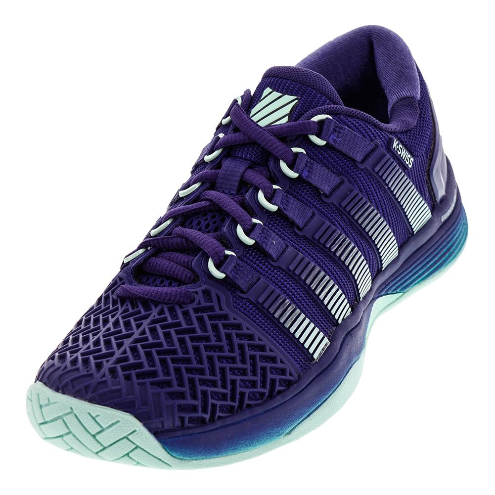 Women's Hypercourt 2.0 Tennis Shoes Blue Ribbon And Electric Green