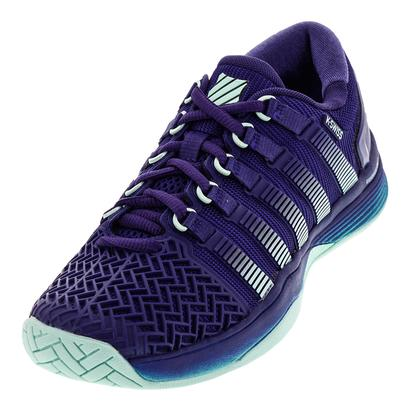 Women`s Hypercourt 2.0 Tennis Shoes Blue Ribbon and Electric Green