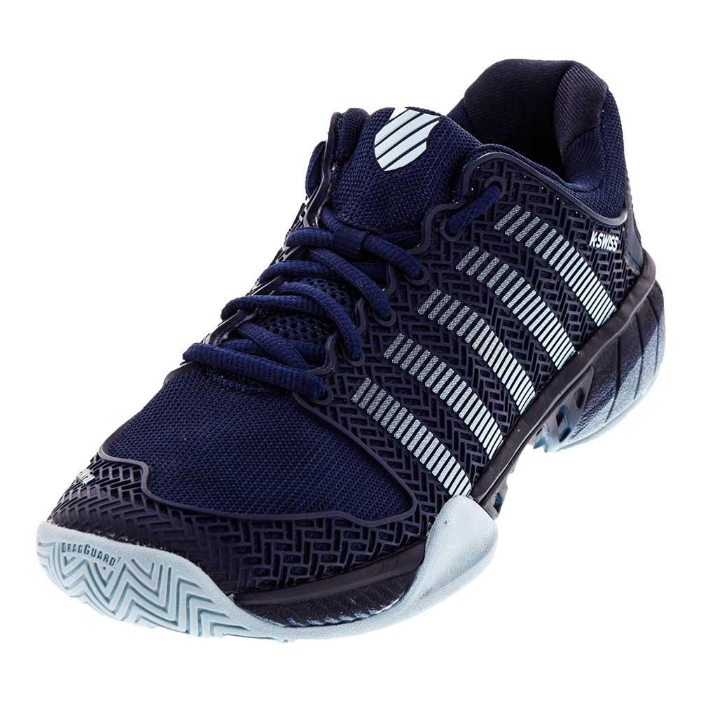 Men's Hypercourt Express Tennis Shoes Black Iris And Blue Glow