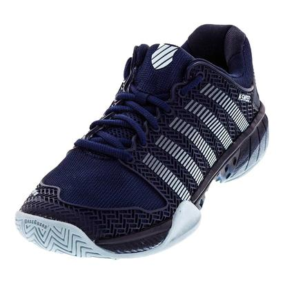 Men`s Hypercourt Express Tennis Shoes Black Iris and Blue Glow