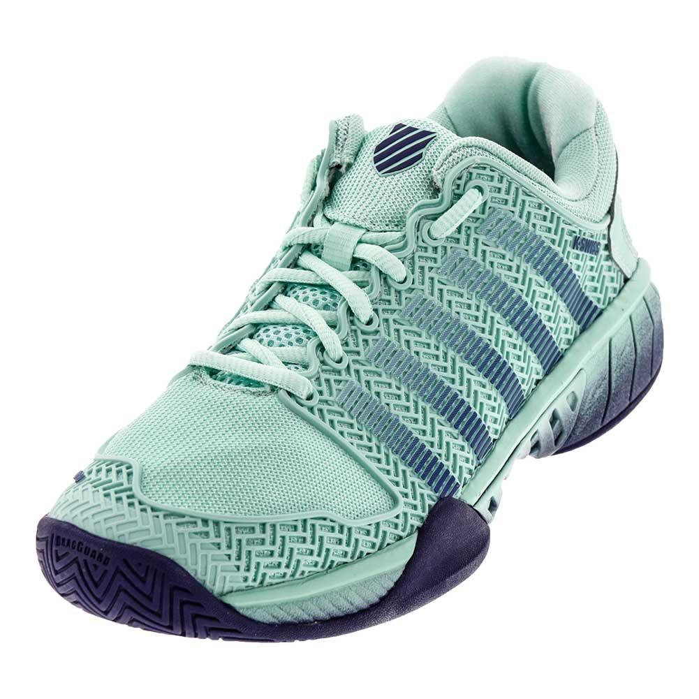 Women's Hypercourt Express Tennis Shoes Brook Green And Blue Ribbon