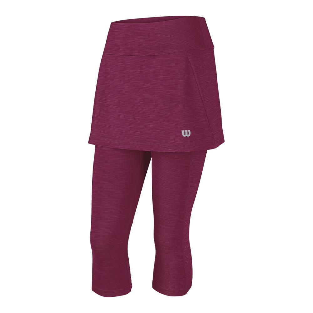 Women's Rush Capri Tennis Skort 2 Beet Red Striated