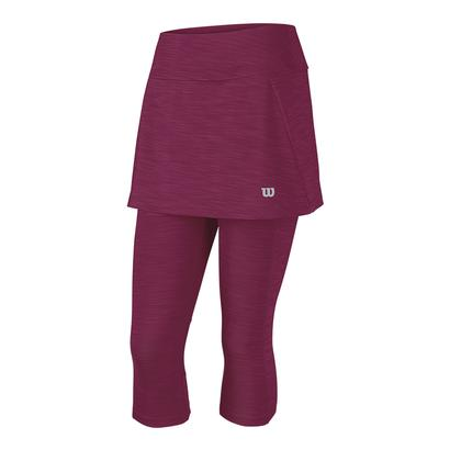 Women`s Rush Capri Tennis Skort 2 Beet Red Striated