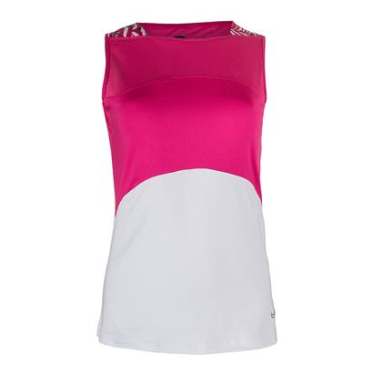 Women`s Tennis Tank White and Azalea